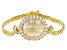 White Cubic Zirconia 18k Yellow Gold Over Sterling Silver Bracelet 8.28ctw