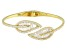 White Cubic Zirconia 18K Yellow Gold Over Sterling Silver Bracelet 6.57ctw