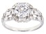 White Cubic Zirconia Rhodium Over Sterling Silver Center Design Ring 3.59ctw