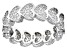 White Cubic Zirconia Rhodium Over Sterling Silver Heart Band Ring 2.39ctw