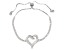 White Cubic Zirconia Rhodium Over Sterling Silver Bolo Bracelet 2.54ctw