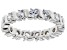 White Cubic Zirconia Rhodium Over Sterling Silver Band Ring 2.74ctw