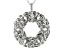 White Cubic Zirconia Rhodium Over Sterling Silver Pendant With Chain 0.11ctw