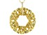 White Cubic Zirconia 18K Yellow Gold Over Sterling Silver Pendant With Chain 0.11ctw