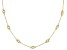 White Cubic Zirconia 18K Yellow Gold Over Sterling Silver Station Necklace 1.20ctw