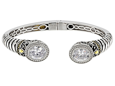 White Cubic Zirconia Rhodium Over Sterling Silver Bracelet 8.20ctw
