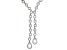White Cubic Zirconia Rhodium Over Sterling Silver Y Necklace 68.58ctw