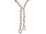 White Cubic Zirconia 18K Rose Gold Over Sterling Silver Y Necklace 68.58ctw