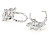 White Cubic Zirconia Rhodium Over Sterling Silver Drop Earrings 6.39ctw