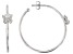 White Cubic Zirconia Rhodium Over Sterling Silver Butterfly Hoop Earrings 0.43ctw