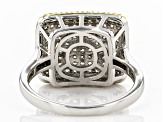 White Cubic Zirconia Rhodium Over Sterling Silver Ring 1.08ctw