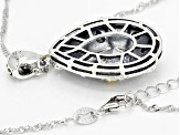 White Cubic Zirconia Rhodium Over Sterling Silver Pendant With Chain 5.24ctw