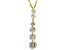 White Cubic Zirconia 18k Yellow Gold Over Sterling Silver Pendant With Chain 6.35ctw