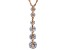 White Cubic Zirconia 18K Rose Gold Over Sterling Silver Pendant With Chain 6.35ctw