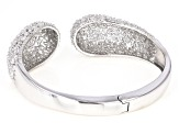 White Cubic Zirconia Rhodium Over Sterling Silver Bracelet 32.44ctw