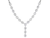 White Cubic Zirconia Rhodium Over Sterling Silver Necklace 40.53ctw