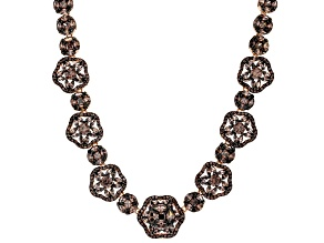 Brown Cubic Zirconia 18k Rose Gold Over Sterling Silver Necklace 52.97ctw