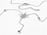 White Cubic Zirconia Rhodium Over Sterling Silver Star Necklace 1.04ctw