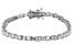 White Cubic Zirconia Rhodium Over Sterling Silver Tennis Bracelet 5.70ctw