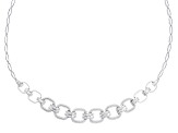 White Cubic Zirconia Rhodium Over Sterling Silver Necklace 9.71ctw