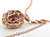 Mocha And White Cubic Zirconia 18K Rose Gold Over Sterling Silver Pendant With Chain 10.70ctw