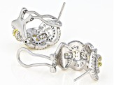 White Cubic Zirconia Rhodium Over Sterling Silver Earrings 4.14ctw