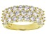 White Cubic Zirconia 18K Yellow Gold Over Sterling Silver Ring 4.28ctw