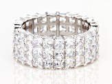 White Cubic Zirconia Rhodium Over Sterling Silver Eternity Band Ring 11.59ctw