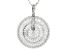 White Cubic Zirconia Rhodium Over Sterling Silver Pendant With Chain 6.95ctw