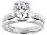 White Cubic Zirconia Rhodium Over Sterling Silver Ring With Band 3.30ctw
