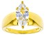 White Cubic Zirconia 18K Yellow Gold Over Sterling Silver Ring 2.45ctw
