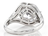 White Cubic Zirconia Rhodium Over Sterling Silver Ring 5.94ctw (3.87ctw DEW)