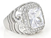 White Cubic Zirconia Rhodium Over Sterling Silver Ring 5.35ctw