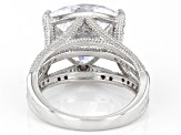 White Cubic Zirconia Rhodium Over Sterling Silver Ring 9.37ctw