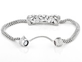 White Cubic Zirconia Rhodium Over Sterling Silver Bracelet 5.15ctw