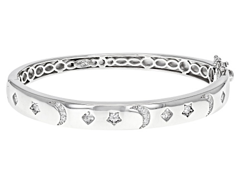 Sterling Silver Star /& Moon Bangles