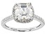 White Cubic Zirconia Rhodium Over Sterling Silver Asscher Cut Ring 4.35ctw
