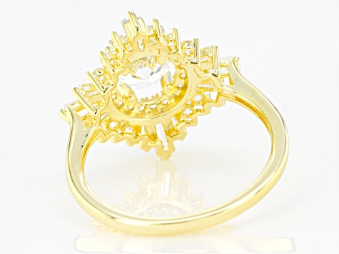 White Cubic Zirconia 18K Yellow Gold Over Sterling Silver Ring 2.58ctw