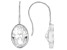 White Cubic Zirconia Rhodium Over Sterling Silver Earrings 16.56ctw