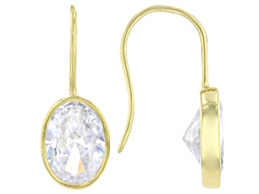 White Cubic Zirconia 18K Yellow Gold Over Sterling Silver Earrings 16.56ctw