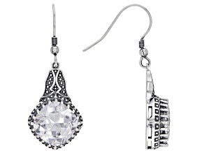 White Cubic Zirconia Rhodium Over Sterling Silver Earrings 16.20ctw