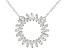 White Cubic Zirconia Rhodium Over Sterling Silver Necklace 2.70ctw