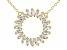 White Cubic Zirconia 18K Yellow Gold Over Sterling Silver Necklace 2.70ctw