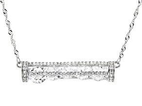 White Cubic Zirconia Rhodium Over Sterling Silver Necklace 7.00ctw