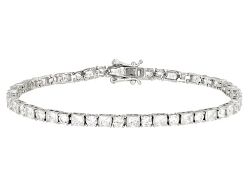 Picture of White Cubic Zirconia Rhodium Over Sterling Silver Bracelet 9.85ctw