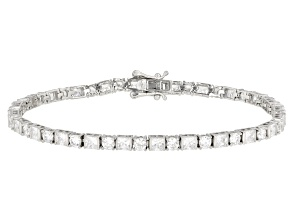 White Cubic Zirconia Rhodium Over Sterling Silver Bracelet 9.85ctw