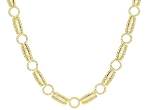 White Cubic Zirconia 18K Yellow Gold Over Sterling Silver Necklace 8.65ctw