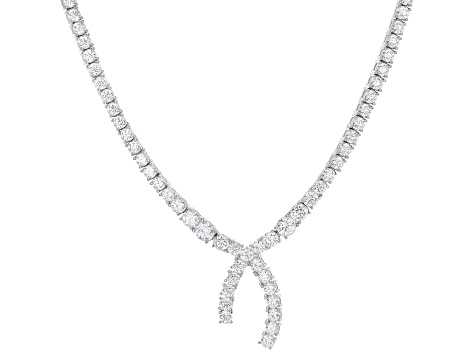 White Cubic Zirconia Rhodium Over Sterling Silver Necklace 31.08ctw