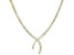 White Cubic Zirconia 18k Yellow Gold Over Sterling Silver Necklace 31.08ctw