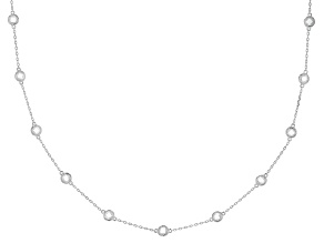 White Cubic Zirconia Rhodium Over Sterling Silver Necklace 14.17ctw